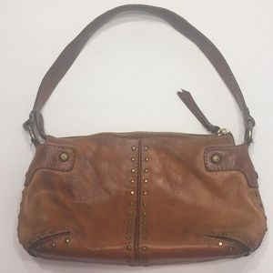 VTG Michael Kors Tan Leather Studded Bag Purse